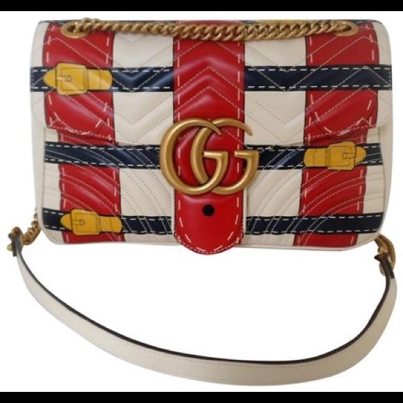 9f1bf95ddcc Gucci Marmont Gg Chain Shoulder C Multi-colo